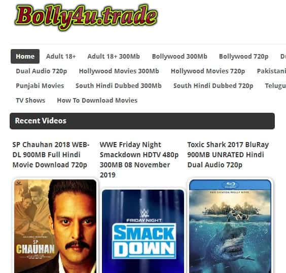 Bolly4u Website 2020: Download Bollywood HD Movies Online