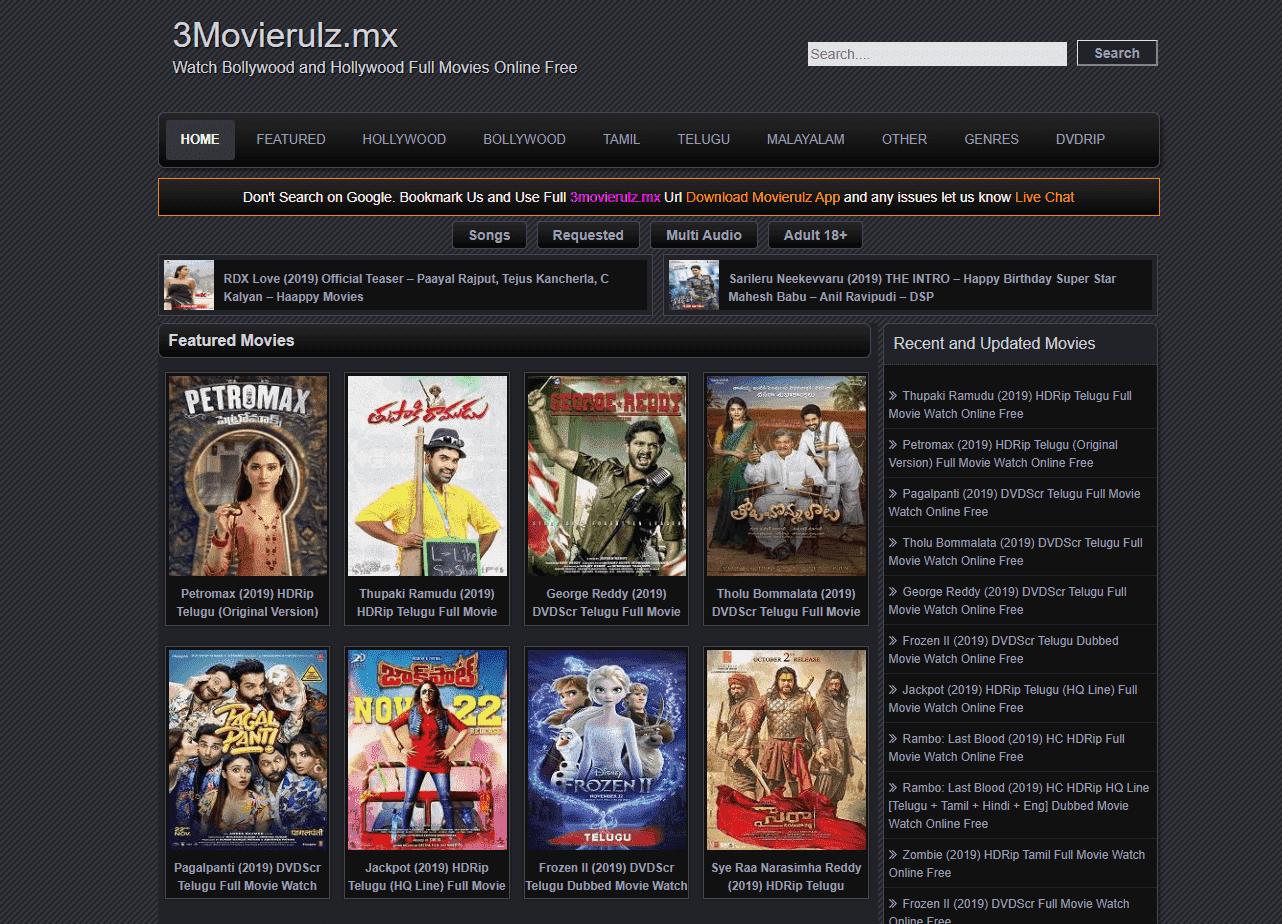 Movierulz 2020 Tamil Malayalam Hd Movies Download Online