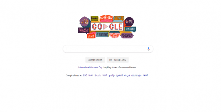 On International Women's Day Google Celebrates with new Doodle
