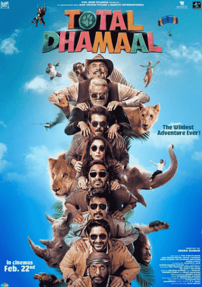 Total Dhamaal Bollywood Movie Download Leaked By TamilRockers, Filmyzilla 300mb Movies