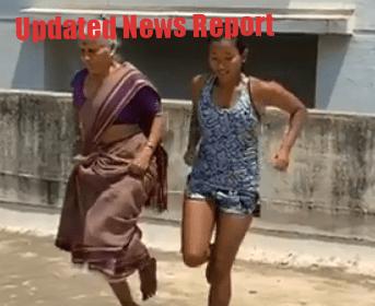 Milind-soman-ankita-mother-workout