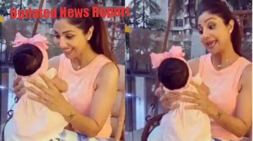 Shilpa Shetty with daughter Samisha