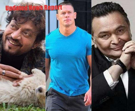 WWE Wrestler John Cena pays tribute to Irfan Khan and Rishi Kapoor