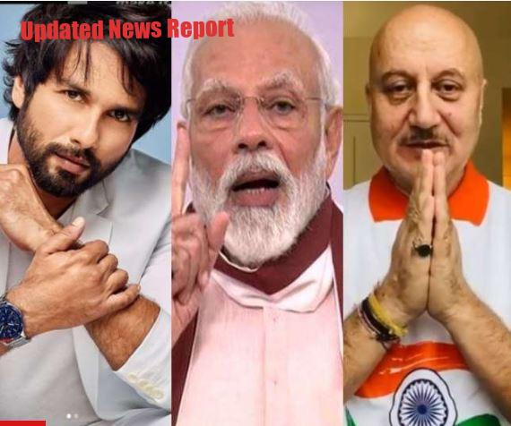 Celebs including Anupam Kher, Shahid Kapoor praised PM's speech