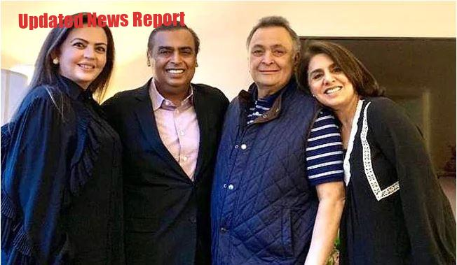 Rishi Kapoor with Ambani Family