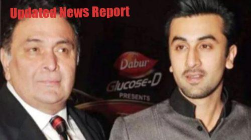 Rishi Kapoor with son Ranbir kapoor