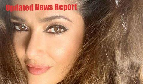 Salma-hayek-surprise-fans-with-make-up-free-selfie