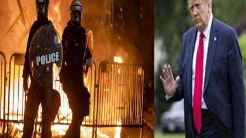 George Floyd Death: Uncontrollable situation in America, fire of violence reaches White House