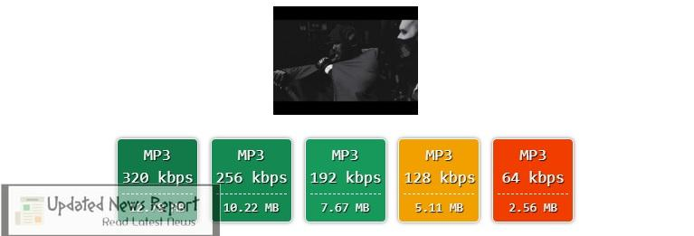 choose your preferred bitrate from 320 kbps to 128 kbps